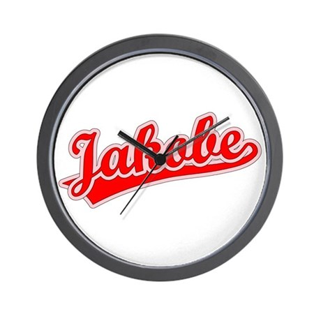 Retro Jakobe (Red) Wall Clock