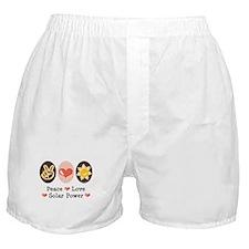 Peace Love Solar Power Boxer Shorts