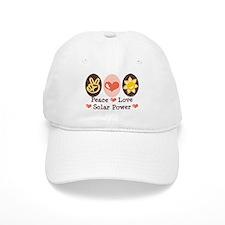 Peace Love Solar Power Baseball Cap