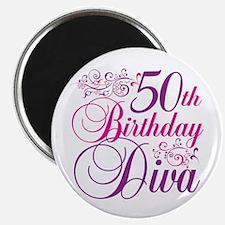 "50th Birthday Diva 2.25"" Magnet (100 pack)"