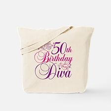 50th Birthday Diva Tote Bag