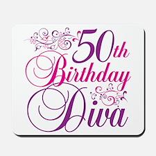 50th Birthday Diva Mousepad