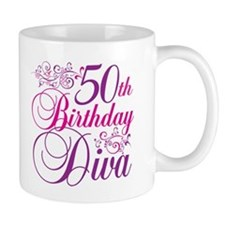 50th Birthday Diva Mug