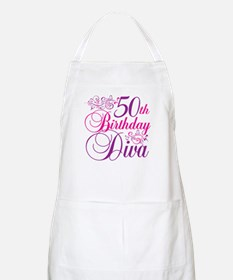 50th Birthday Diva BBQ Apron