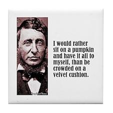"Thoreau ""Pumpkin"" Tile Coaster"