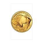 Gold Buffalo Rectangle Sticker 50 pk)
