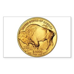 Gold Buffalo Rectangle Decal