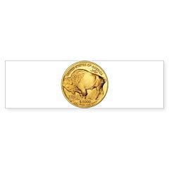 Gold Buffalo Bumper Bumper Sticker