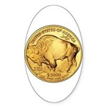 Gold Buffalo Oval Sticker (10 pk)