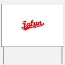 Retro Jalyn (Red) Yard Sign