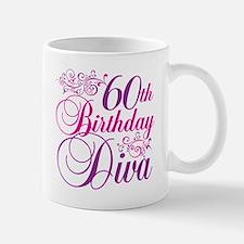 60th Birthday Diva Mug