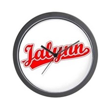 Retro Jalynn (Red) Wall Clock