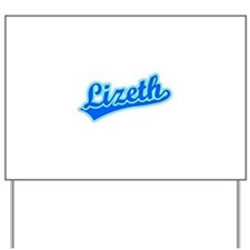 Retro Lizeth (Blue) Yard Sign