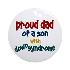 Proud Dad.....2 (Son DS) Ornament (Round)