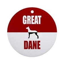 Great Dane Ornament (Round)