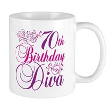70th Birthday Diva Mug