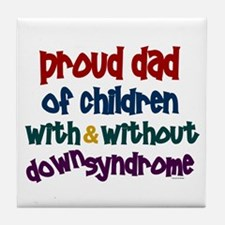 Proud Dad.....2 (With & Without DS) Tile Coaster