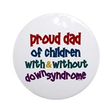 Proud Dad.....2 (With & Without DS) Ornament (Roun
