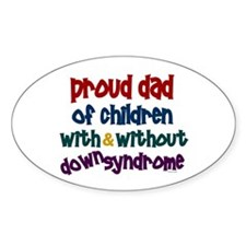 Proud Dad.....2 (With & Without DS) Oval Decal