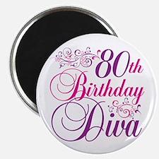 80th Birthday Diva Magnet