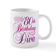 80th Birthday Diva Mug
