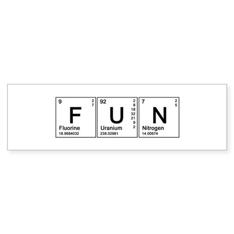 Periodic Fun Bumper Sticker