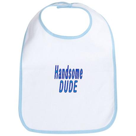 Handsome DUDE - Blue Bib