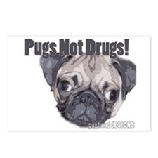 Pugs Not Drugs Postcards (Package of 8)