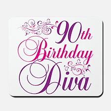 90th Birthday Diva Mousepad