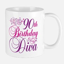 90th Birthday Diva Mug