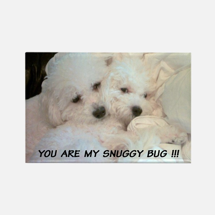 BICHONS IN LOVE 'SNUGGY BUG' MAGNET