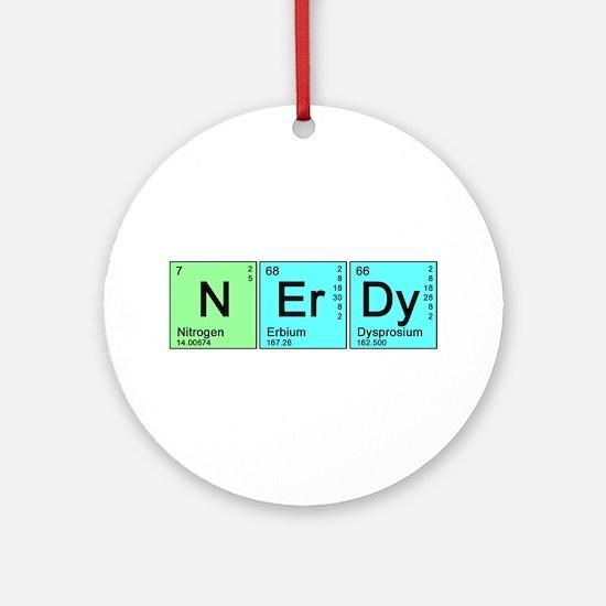 Periodic Nerd Ornament (Round)