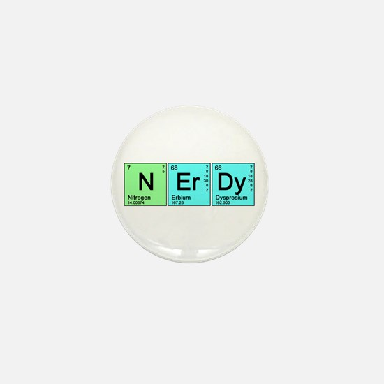 Periodic Nerd Mini Button