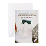 Bichon frise christmas Greeting Cards (10 Pack)