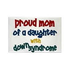 Proud Mom.....2 (Daughter DS) Rectangle Magnet