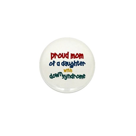 Proud Mom.....2 (Daughter DS) Mini Button (10 pack
