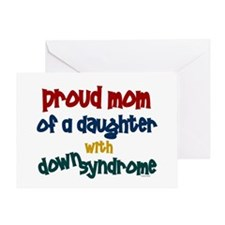 Proud Mom.....2 (Daughter DS) Greeting Card