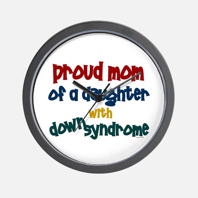 Proud Mom.....2 (Daughter DS) Wall Clock