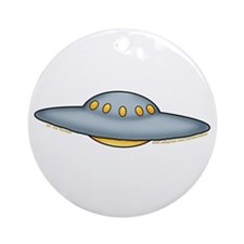 Cute UFO Picture 2 Ornament (Round)