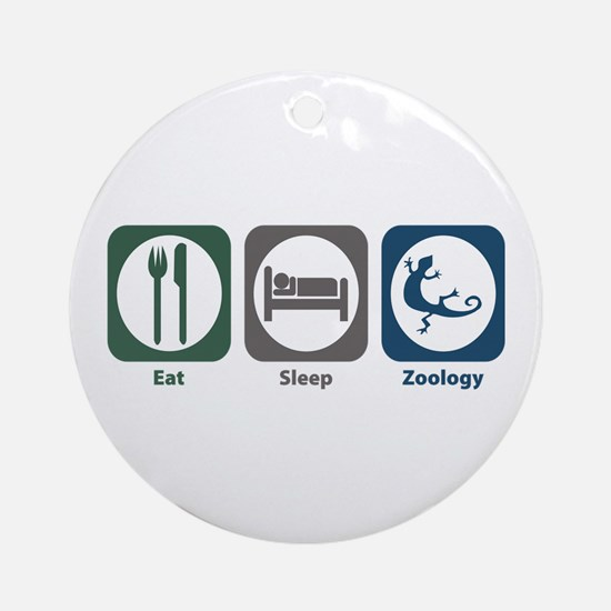 Eat Sleep Zoology Ornament (Round)