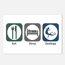 Eat Sleep Zoology Postcards (Package of 8)
