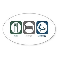 Eat Sleep Zoology Oval Decal