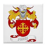 Perez Family Crest Tile Coaster