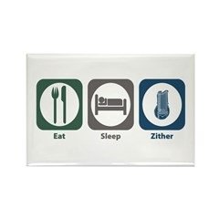 Eat Sleep Zither Rectangle Magnet