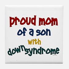 Proud Mom....2 (Son DS) Tile Coaster