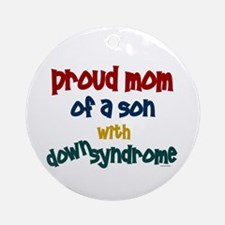 Proud Mom....2 (Son DS) Ornament (Round)