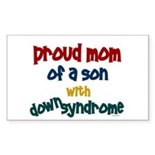 Proud Mom....2 (Son DS) Rectangle Decal