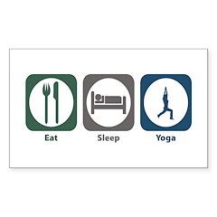 Eat Sleep Yoga Rectangle Decal