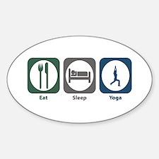 Eat Sleep Yoga Oval Decal