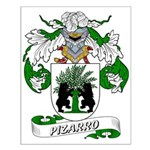 Pizarro Family Crest Small Poster
